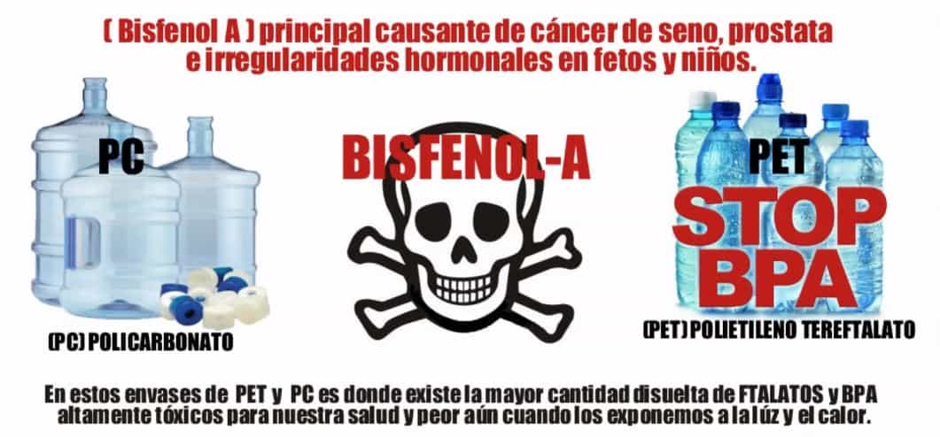 botellas de plastico - BPA - Ftalatos